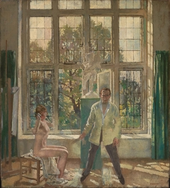 Summer Afternoon (Artist in his Studio with a Model)