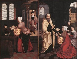 The Adoration of the Shepherds and the Kings and Elisha and the widow's oil
