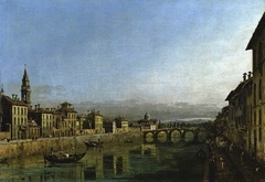 The Arno in Florence with the Ponte Alla Carraia