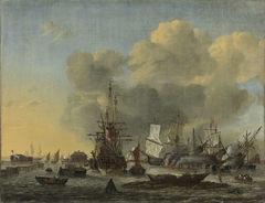 The Caulking of Ships at the Bothuisje on Het IJ in Amsterdam