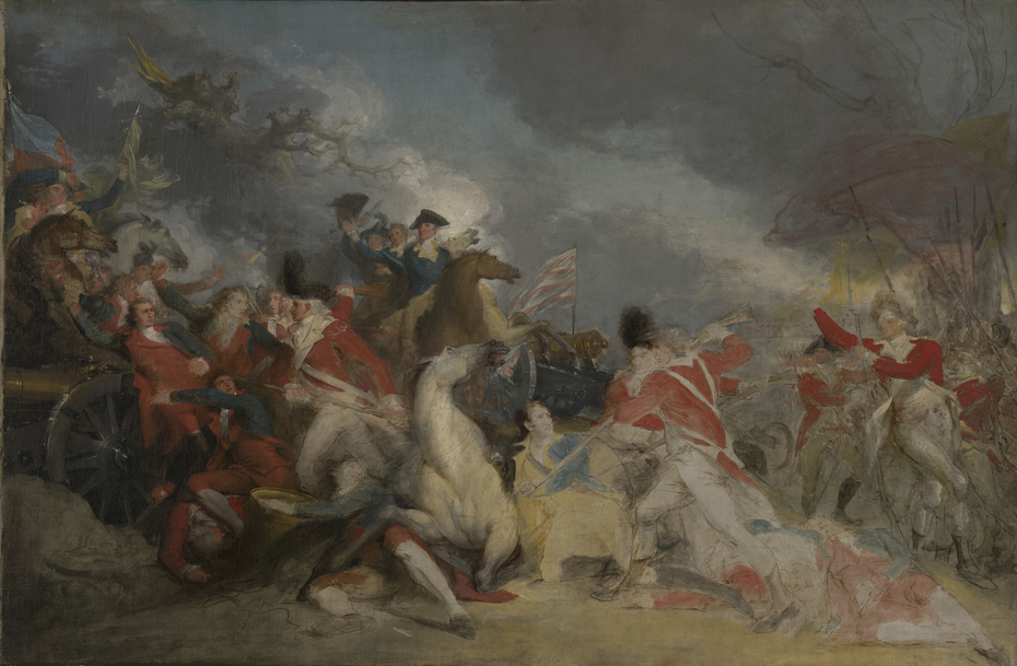 The Death of General Mercer at the Battle of Princeton, 3 January 1777 (unfinishedversion)