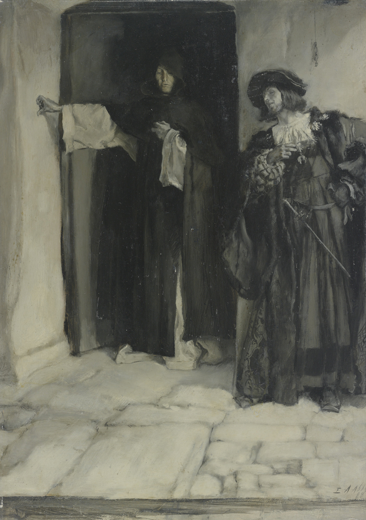 The Duke and Friar Thomas, from Measure for Measure, Act I, Sceneiii