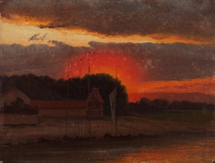 The Elbe in Sunset