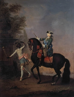 The Empress Elizabeth of Russia on Horseback, Attended by a Page