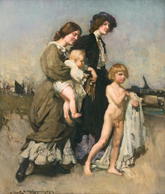 The holiday group (The bathers)