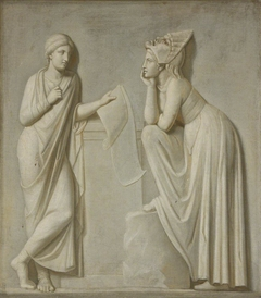 The Muses: Euterpe and Melpomene