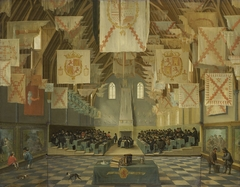 The Ridderzaal of the Binnenhof during the Great Assembly of 1651
