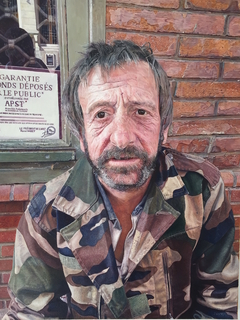 Toulouse Homeless Man by James Earley