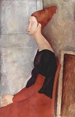 Porträt der Jeanne Hébuterne in dunkler Kleidung