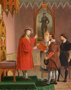 Duke Adolf, who refuses offer of the Danish Krone