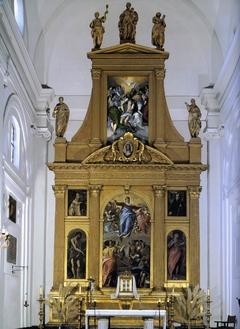Retablo mayor de la iglesia del monasterio de Santo Domingo el Antiguo