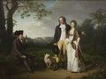 Niels Ryberg with his Son Johan Christian and his Daughter-in-Law Engelke, née Falbe