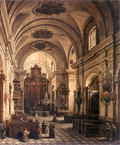 Interior of the Reformed Franciscan Church in Warsaw