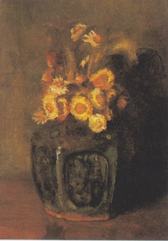Ginger Pot with chrysanthemums