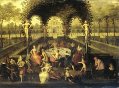 Venus, Bacchus and Ceres with Mortals in a Garden of Love