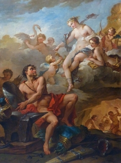 Venus Demanding Arms from Vulcan for Aeneas
