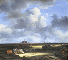 View of bleaching fields and Haarlem