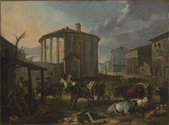 Vue de Rome avec le temple de Vesta