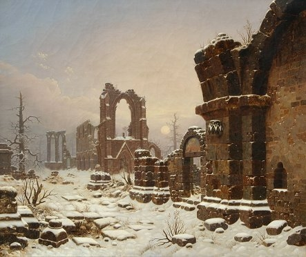 Walkenried Abbey Ruins in Snow