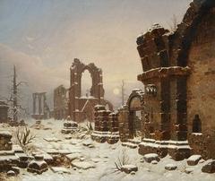 Walkenried Abbey Ruins in Snow