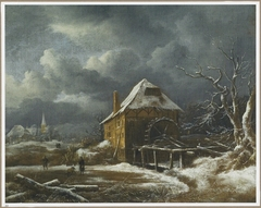 Winter Landscape with a Watermill