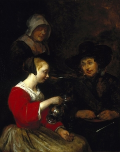 ''Woman Pouring Wine''