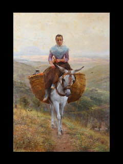 Women Riding a Donkey