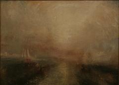 Yacht Approaching the Coast