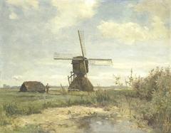 'Zonnige dag': een molen aan een wetering