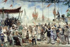 14 Juillet 1880, inauguration du monument à la République