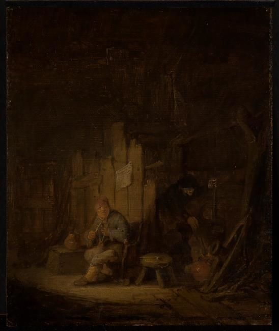 A Fisherman's Family in their Cottage
