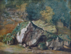 A Study of Rocks and Trees, Fontainebleau