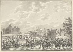 Aankomst van de gewapende Amsterdamse burgers in Muiden, 1787