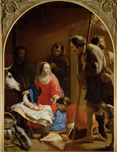 Adoration of the Shepherds (St Anthony in the background)