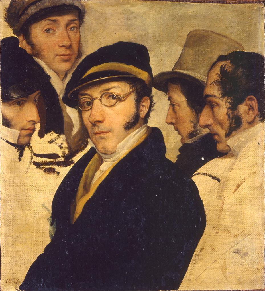 Autoritratto in un gruppo di amici