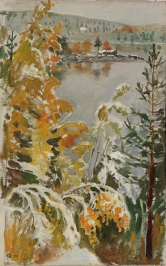 Autumn Landscape, First Snow