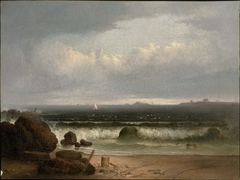 Beach Scene with Rocks II