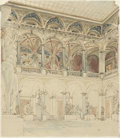 Binnenplaats van de Ecole des Beaux-Arts te Parijs