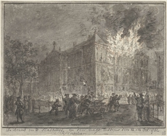 Brand in het stadhuis van Amsterdam, 1762