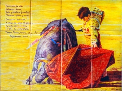 Bullfighting scene