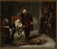 Catherine Jagiellon with her son Sigismund imprisoned in the Gripshom Castle