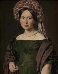Cathrine Jensen, f. Lorenzen, kunstnerens hustru med turban