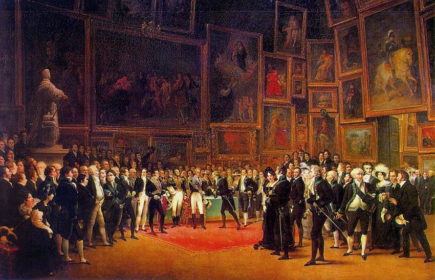 Charles X Distributing Awards to Artists Exhibiting at the Salon of 1824 at the Louvre
