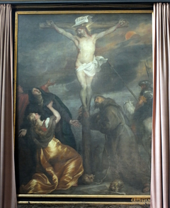 Christ on the Cross with the Virgin Mary and Saints