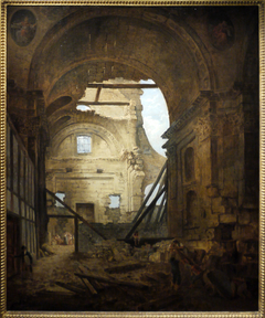 Church of the Sorbonne in Ruins