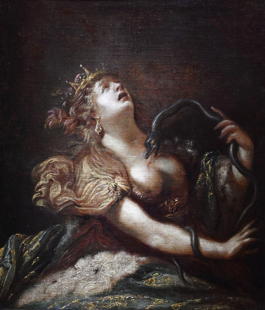 Cleopatra killing herself