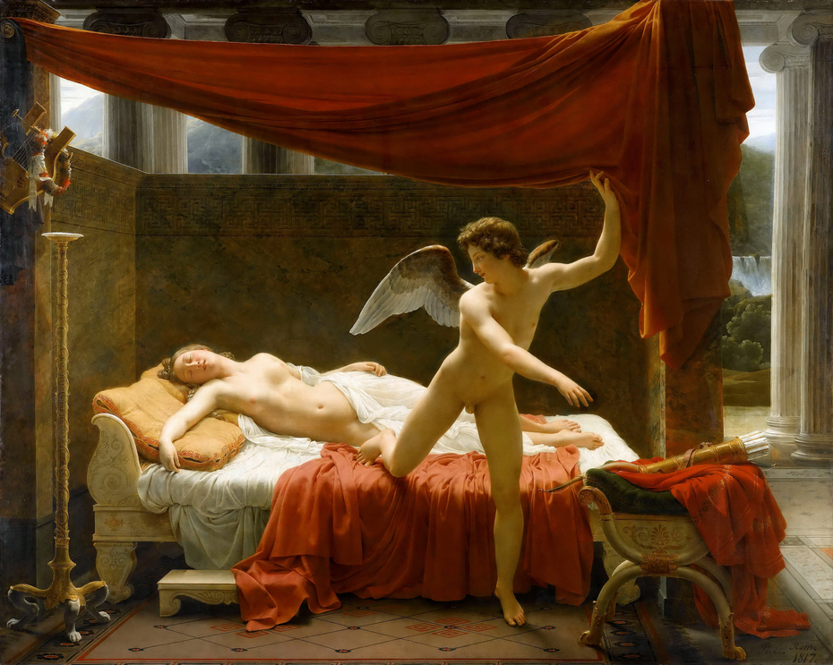 louis psyche cupid and Jacques david