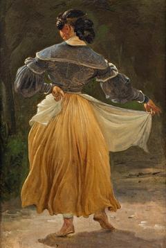 Dancing Roman woman
