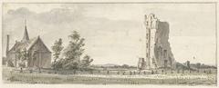 De ruïne van het Huis te Kleef bij Haarlem