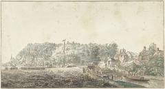 De sluis bij de Grebbe tussen Rhenen en Wageningen